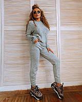Костюм Doratti Gip женский теплый вязаный свитер с узором и штаны Ddor1967