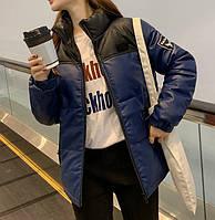 Куртка зимняя кожзам женская  СС-8561-50