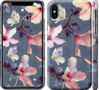 """Чехол на iPhone XS Нарисованные цветы """"2714c-1583-25032"""""""