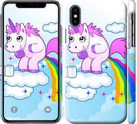 "Чехол на iPhone X Единорожка ""3796c-1050-25032"""