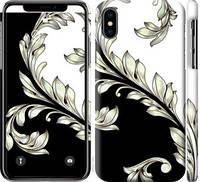 """Чехол на iPhone XS White and black 1 """"2805c-1583-25032"""""""