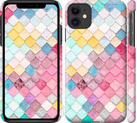 "Чехол на iPhone 11 Красочная черепица ""3703c-1722-25032"""