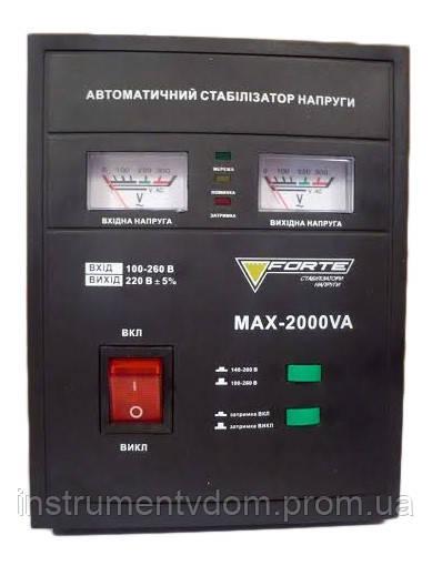 Стабилизатор напряжения FORTE МАХ-2000VA (релейный)