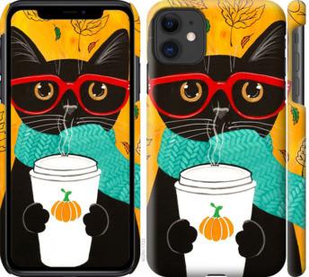 """Чехол на iPhone 11 Осенний кот """"4026c-1722-25032"""""""