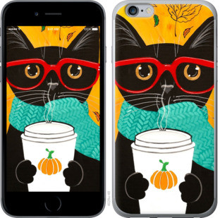"Чехол на iPhone 6 Plus Осенний кот ""4026c-48-25032"""