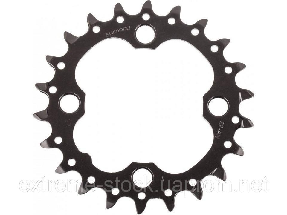 Звезда Shimano SLX FC-M672, 22 зуба, чёрная