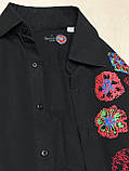 Рубашка чёрная с вышивкой Batistini (S/38), фото 5