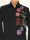 Рубашка чёрная с вышивкой Batistini (S/38), фото 8