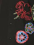 Рубашка чёрная с вышивкой Batistini (S/38), фото 9