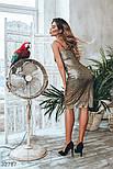 Нарядное платье миди с золотистыми блестками, фото 4