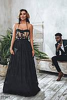 Вечернее платье-бюстье длины макси