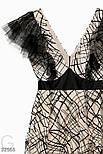 Вечернее длинное платье макси с оборками, фото 5