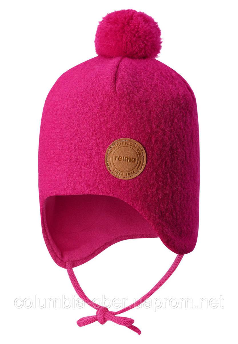 Зимняя шапка-бини для девочки Reima Havu 518542-4650. Размеры 46 - 52.