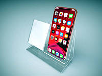 Подставка под мобильный телефон с ценникодержателем 160х120 мм (Толщина акрила : 1,8 мм; )