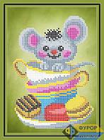 Схема для вышивки бисером - Мышка в кружке, Арт. ДБч5-175