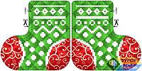 Схема для вышивки бисером - Игрушка новогодняя, Арт. ИНБ-003