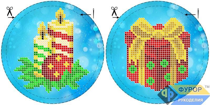 Схема для вишивки бісером Новорічна ялинкова іграшка (ИНБ-010)