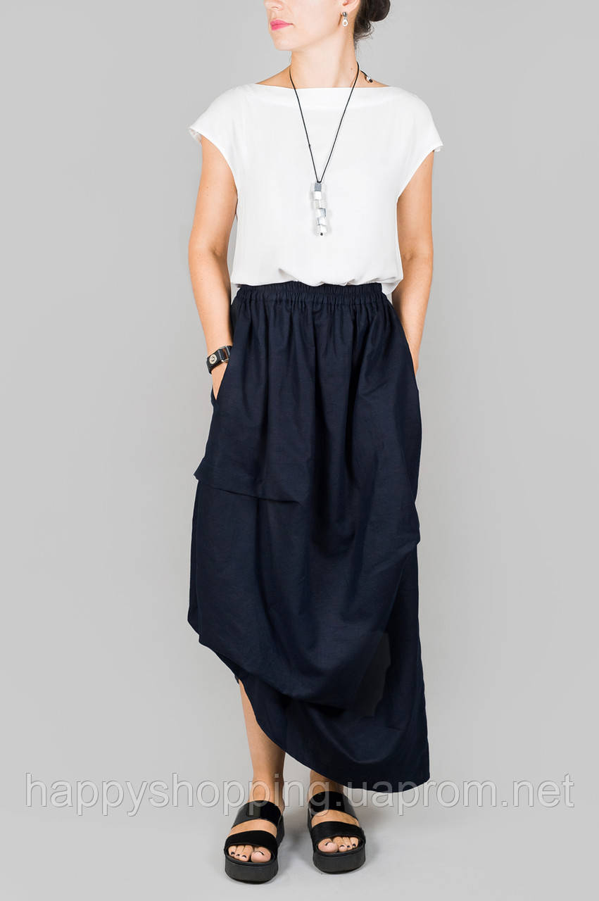 Темно-синяя юбка HooS
