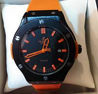 Часы hublot оранжевые, часы унисекс (реплика)