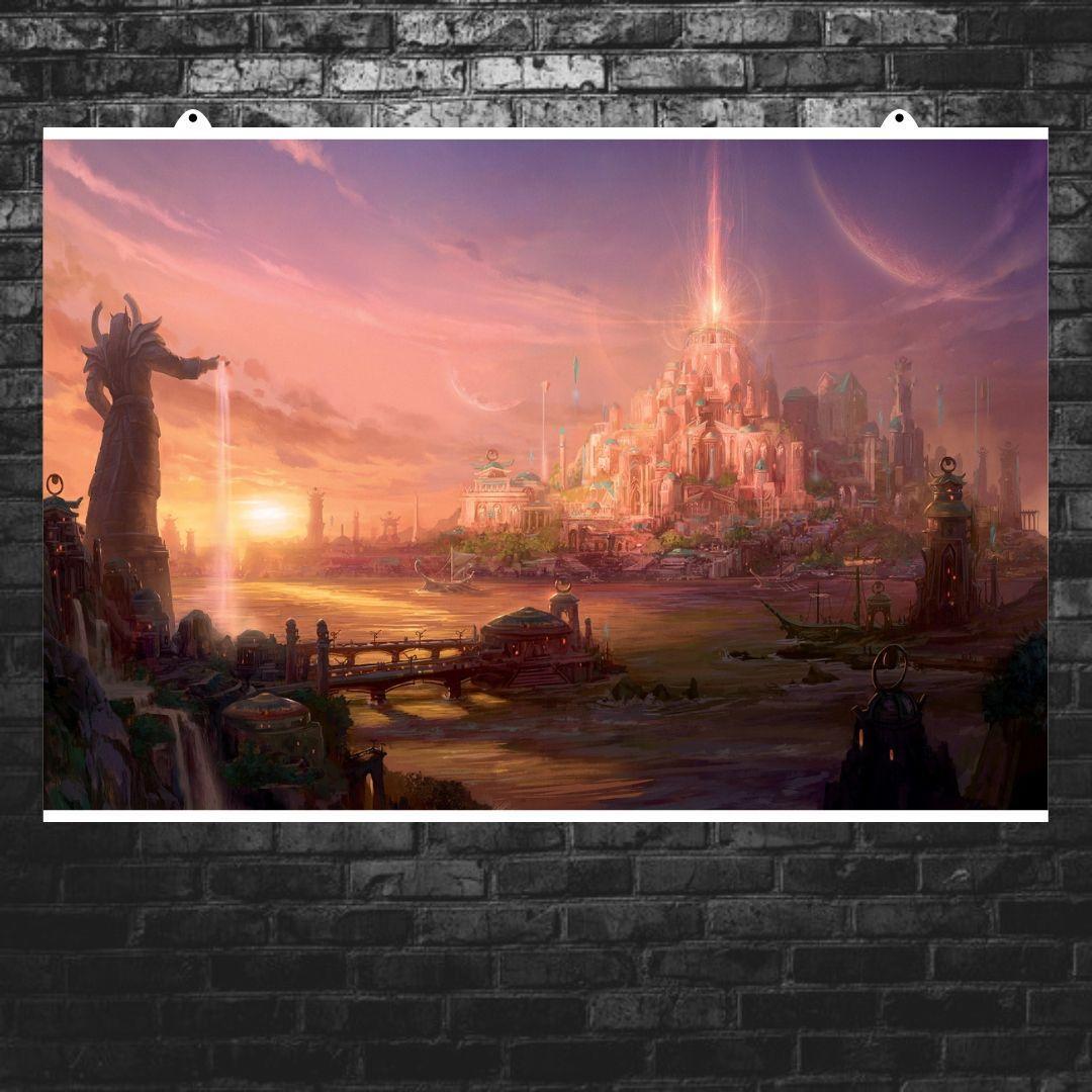 "Постер ""Новый мир"". World of Warcraft, Варкрафт. Размер 60x40см (A2). Глянцевая бумага"