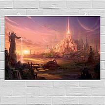 "Постер ""Новый мир"". World of Warcraft, Варкрафт. Размер 60x40см (A2). Глянцевая бумага, фото 2"