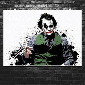 """Постер """"Джокер, минималистичный арт"""". Joker. Размер 60x42см (A2). Глянцевая бумага"""