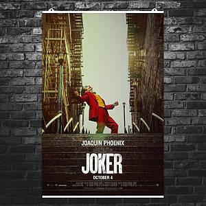 """Постер """"Артур Флек на лестнице"""". Джокер, Joker, Хоакин Феникс. Размер 60x43см (A2). Глянцевая бумага"""