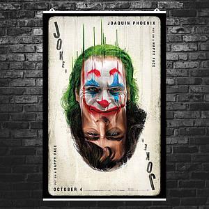 "Постер ""Карта Джокер"". Joker, Хоакин Феникс. Размер 60x40см (A2). Глянцевая бумага"