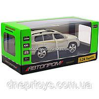 Машинка іграшкова Автопром «Toyota» Тойота джип, метал, 18 см, Білий (світло, звук, двері відчиняються) 7662, фото 5