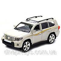 Машинка іграшкова Автопром «Toyota» Тойота джип, метал, 18 см, Білий (світло, звук, двері відчиняються) 7662, фото 6