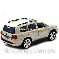 Машинка іграшкова Автопром «Toyota» Тойота джип, метал, 18 см, Білий (світло, звук, двері відчиняються) 7662, фото 7