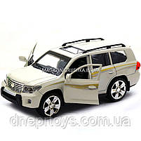 Машинка іграшкова Автопром «Toyota» Тойота джип, метал, 18 см, Білий (світло, звук, двері відчиняються) 7662, фото 8