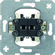 Кнопка 2-клавишная, общая входная клемма (механизм) 10АХ/250В Berker