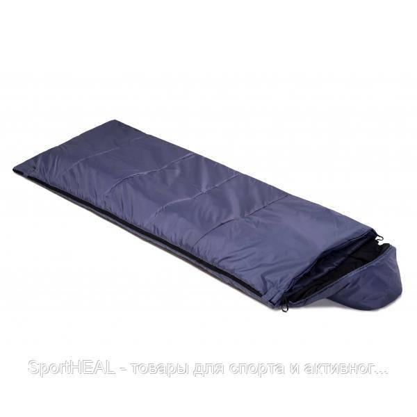 """Спальный мешок одеяло Champion """"Tourist Right """" с капюшоном синий, внутренний материал - фли"""