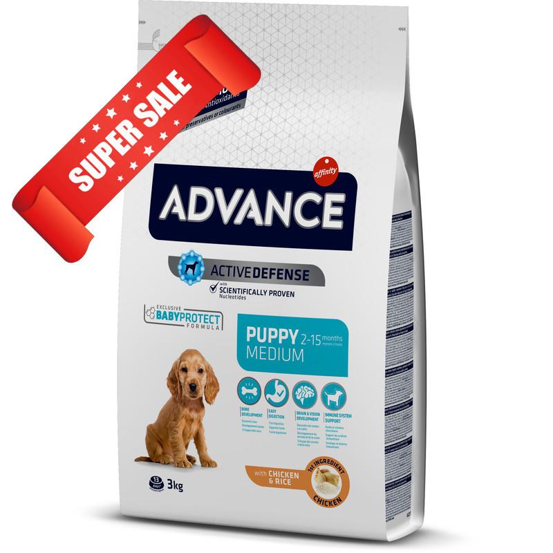 Сухой корм для собак Advance Medium Puppy 18 кг