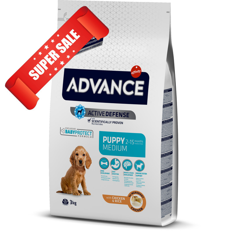 Сухой корм для собак Advance Medium Puppy 3 кг