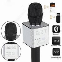 Беспроводной микрофон караоке MicGeek Q9 Karaoke (черный, золотой) + ЧЕХОЛ