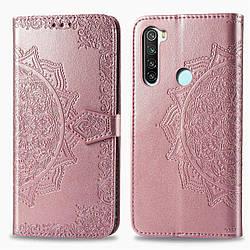 Чехол Xiaomi Redmi Note 8, Art Case, кожаный, с визитницей Розовый