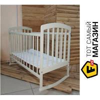 Детская кроватка Laska-M Лама белый