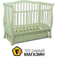 Детская кроватка Laska-M Viva Premium с ящиком, ваниль