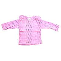 Футболка для девочки, 62-40 размер, розовая - 181927