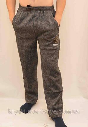 Брюки спортивные мужские зимние XL - 4XL  Штаны теплые серые, фото 2