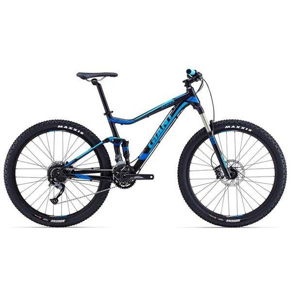 """Горный велосипед двухподвес Giant Stance 2, колеса 27.5"""" черный/синий L (GT)"""