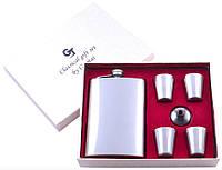 Подарочный набор с флягой лейкой и 4 рюмками TZ-11 152606