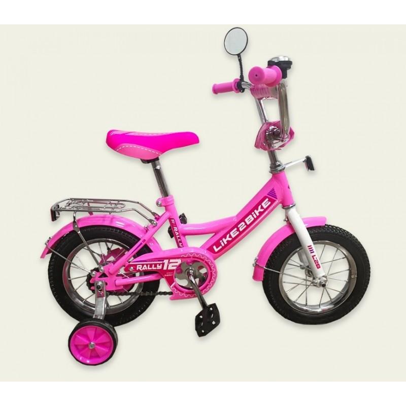 "Велосипед 2-х колёс 14"" 191416 Like2bike RALLY, розовый"
