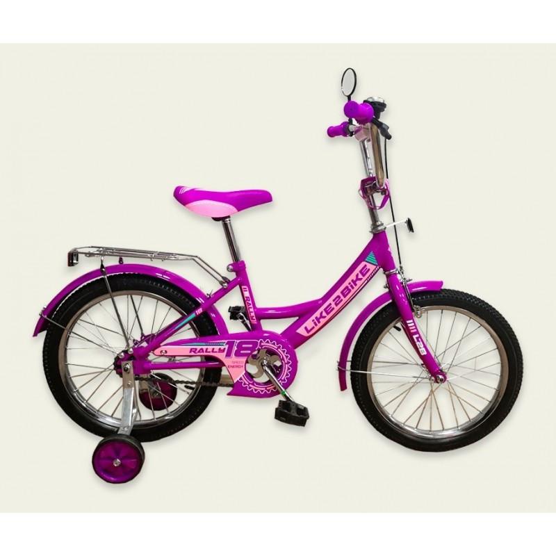 """Велосипед детский 2-х колёсный 14"""" 191417 Like2bike RALLY, фиолетовый"""