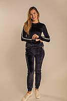 Женский велюровый костюм, цвет джинс XS, S
