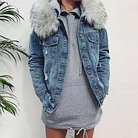 Куртка джинсовая на меху женская