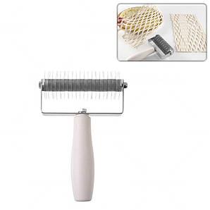 Валик-делитель для теста сеткой Hendi Profi, нержавеющая сталь с пластиковой ручкой,13,5х20 см.,(515