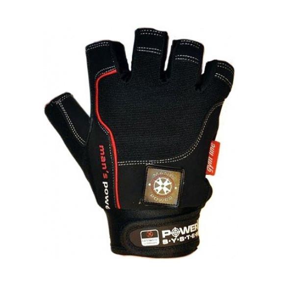 Перчатки для фитнеса и тяжелой атлетики Mans Power PS-2580 Black S R145507